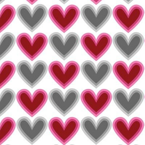 Hearts Beat Red Pattern