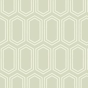 Elongated Hexagon Geometric Pattern (Line Light on Dark Neutral Grey)