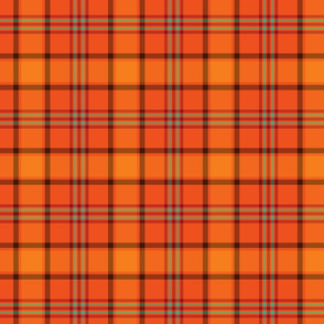Fall Orange Plaid Pattern