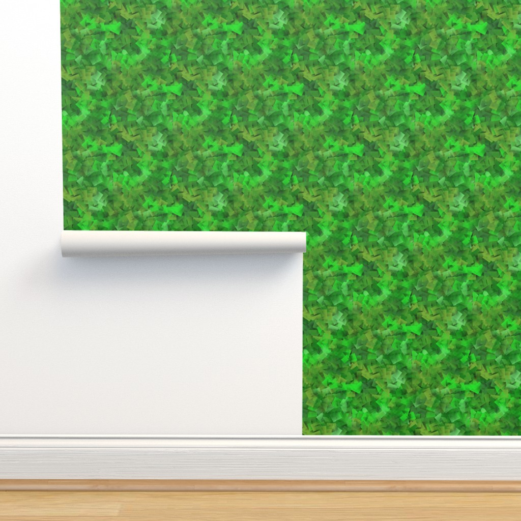 Isobar Durable Wallpaper featuring green cubism by elizabethmay