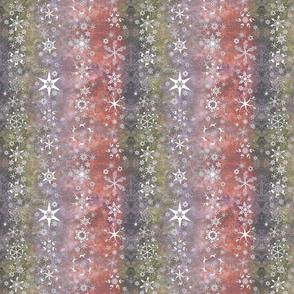 snowflake stripes - Christmas themes on purple, pink, gray, green