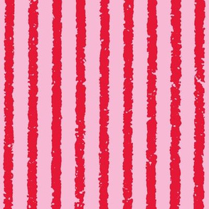 Vertical Lullaby Stripes( pink/red)