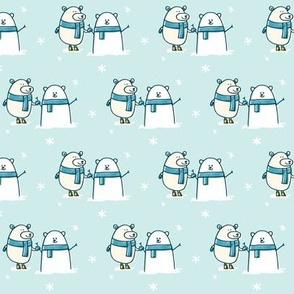 Polar Bear Snowman