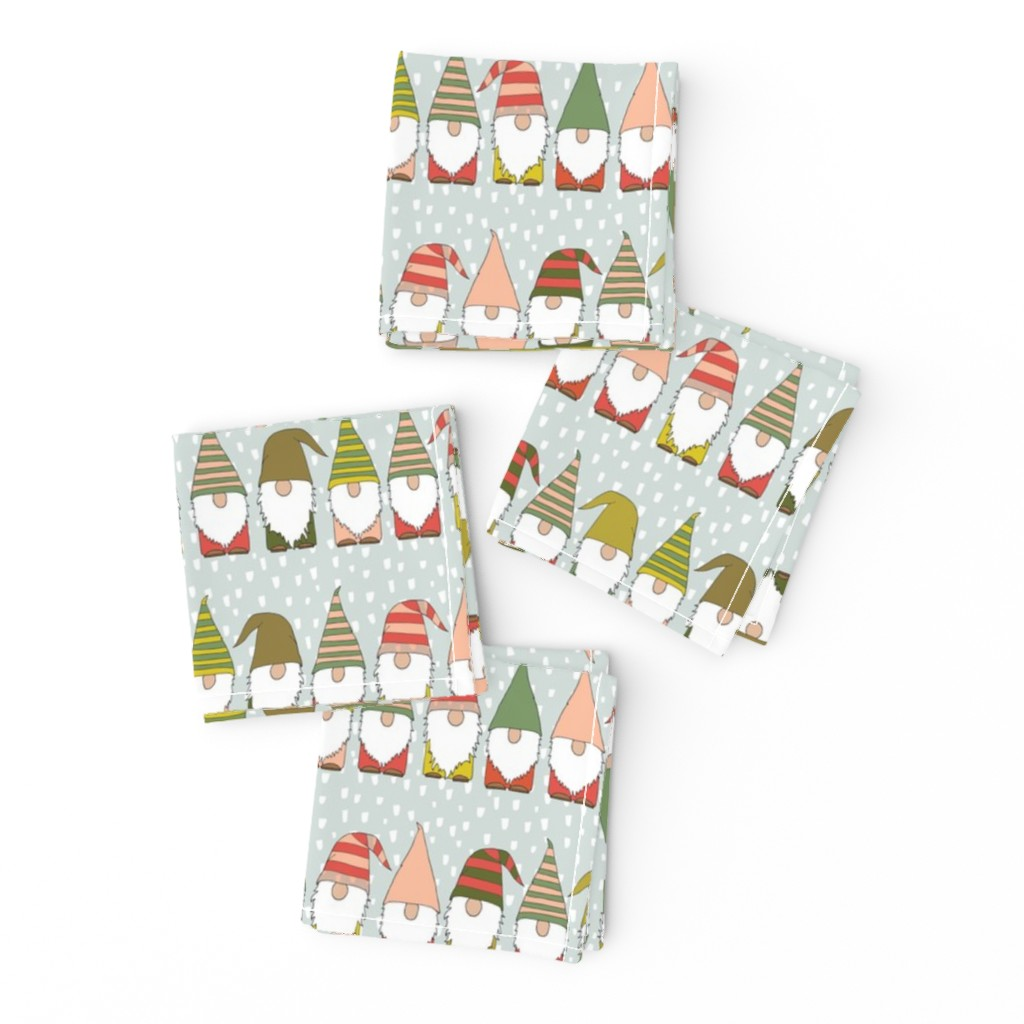 Frizzle Cocktail Napkins featuring Christmas Gnomes by heartsandsharts