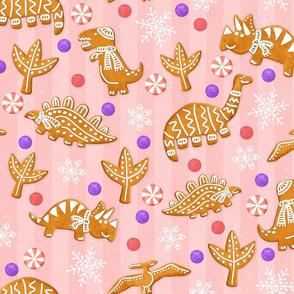 Gingerbread Dinos - Pink
