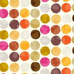 Fall Autumn Truffle Dots || Orange Gold Gray Pink Plum Drops Spots Chocolate Circle Ball _ Miss Chiff Designs