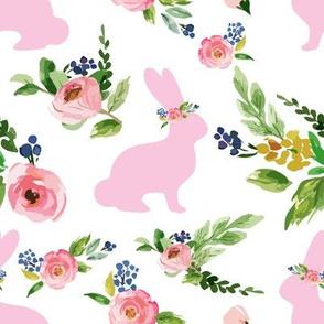Bunnies Spring Floral