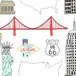 USA Places - small ( white)