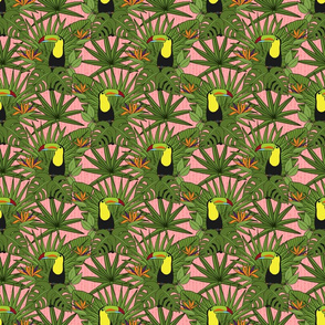 Tropical Toucans on Pink