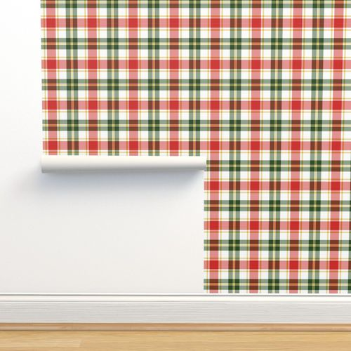 6978063 red green christmas plaid by northern whimsy