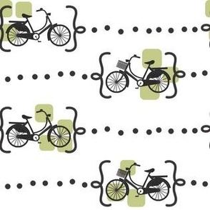 Ride a bike in olive