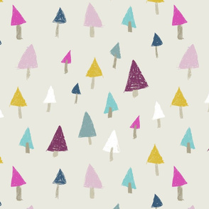 pine trees / nursery baby kids simple design