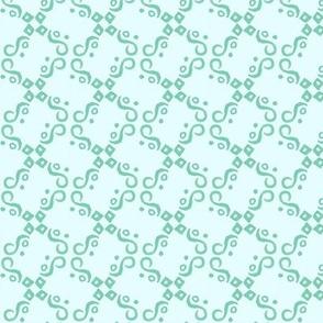 aqua and teal tile