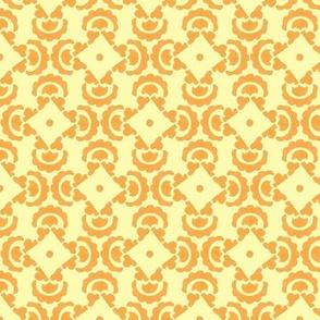 Orange and yellow tile