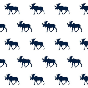 navy moose on white