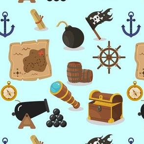 Pirates at sea on Blue