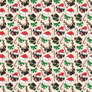 Christmas Pug Dog Pattern - large