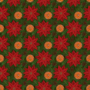 Poinsettia, Orange Slice, and Spice Pattern
