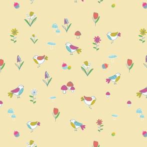 Woodland Birds-yellow