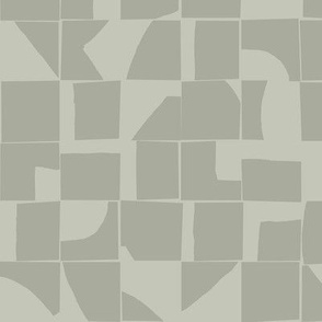 Neutral Geometric Abstract Tiles Small Scale