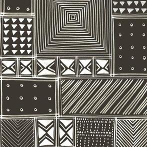 African Brown Tribal Mud Cloth