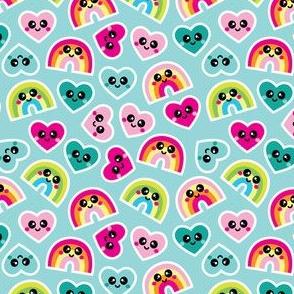 aloha kawaii rainbows and hearts