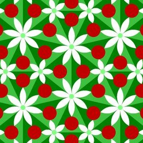 00698169 : holly leaf, flower + berry 7x split