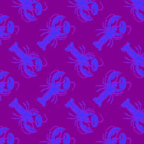 lobster blue on purple