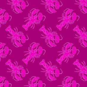 lobster pink on pink