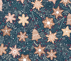 Gingerbread snowflakes / Christmas flowers
