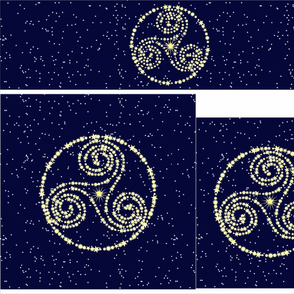 Triskele Constellation in 3 sizes