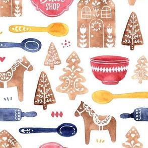 Folk Gingerbread Bake Shop
