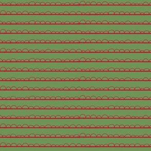 Christmas frilly stripe