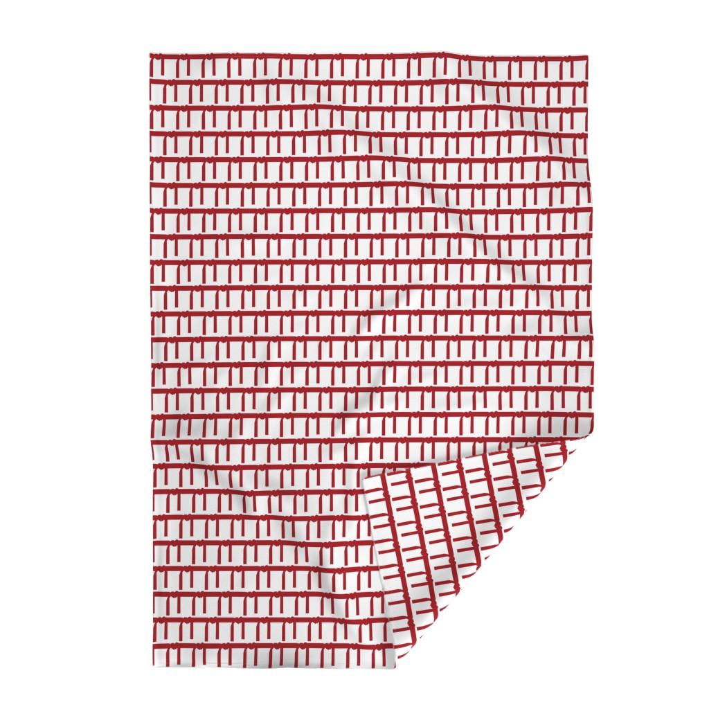 Lakenvelder Throw Blanket featuring Three Inch Martial Arts Dark Red Belt on White by mtothefifthpower