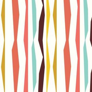 Colored broken lines