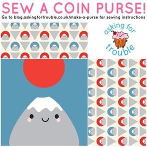 Kawaii Mt Fuji Coin Purse - Cut & Sew Pattern