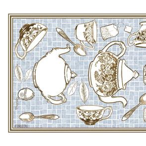 Mousehaus Teatime Blue & Chocolate