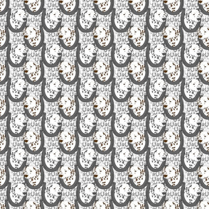 Dalmatian horseshoe portraits B - small