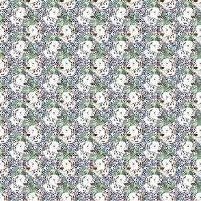 Small Floral Dalmatian portraits B