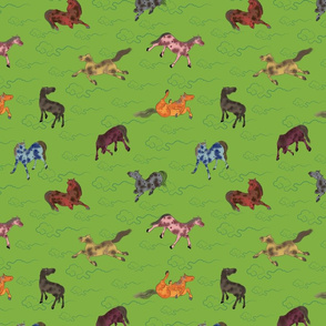 8 Chinese Horses