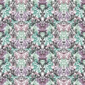 Wallpaper Floral Purple Green Black
