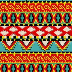 Crimson Waves Eclectic Tribal Pattern SEAMLESS