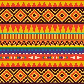 Triangles and Diamonds Tribal Stripes SEAMLESS