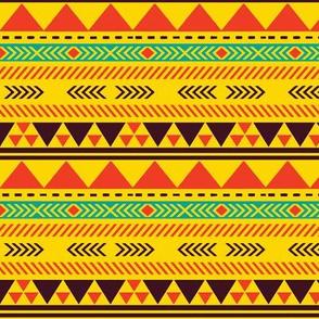 Harvest Gold Yellow Tribal Pattern