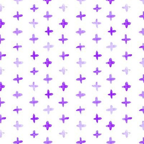 Purple watercolor crosses