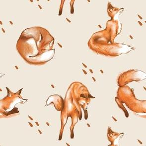 Happy Fox / Cream
