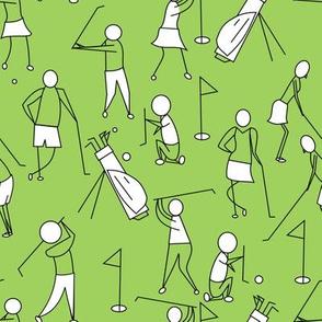 stick figure golf green
