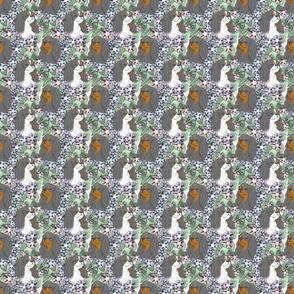 Floral English Toy Spaniel portraits B - small
