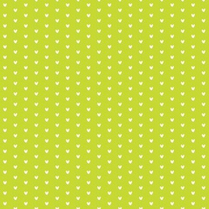 Tiny White Hearts on Chartreuse, Valentines Day, Love