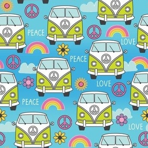 peace and love camper vans